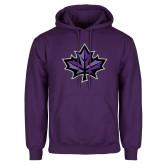 Purple Fleece Hoodie-Maple Leaf