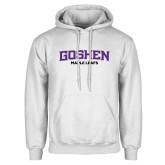 White Fleece Hoodie-Goshen Maple Leafs