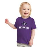 Toddler Purple T Shirt-Goshen Leaf and Wordmark