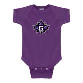 Purple Infant Onesie-Goshen Leaf