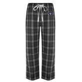 Black/Grey Flannel Pajama Pant-Goshen Leaf