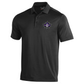 Under Armour Black Performance Polo-Goshen Leaf