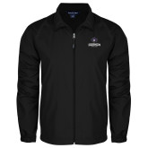 Full Zip Black Wind Jacket-Goshen Leaf and Wordmark