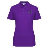 Ladies Easycare Purple Pique Polo-Goshen Leaf
