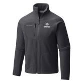 Columbia Full Zip Charcoal Fleece Jacket-Goshen Leaf and Wordmark