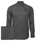 Red House Dark Charcoal Diamond Dobby Long Sleeve Shirt-Goshen Leaf
