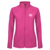 Ladies Fleece Full Zip Raspberry Jacket-Goshen Leaf