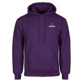 Purple Fleece Hoodie-Goshen Leaf and Wordmark