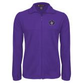 Fleece Full Zip Purple Jacket-Goshen Leaf