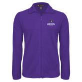 Fleece Full Zip Purple Jacket-Goshen Leaf and Wordmark