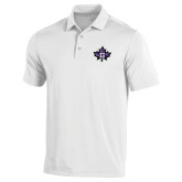 Under Armour White Performance Polo-Goshen Leaf