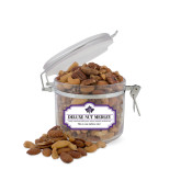 Deluxe Nut Medley Small Round Canister-Goshen Leaf