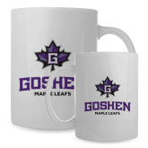 Full Color White Mug 15oz-Goshen Leaf and Wordmark