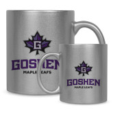 Full Color Silver Metallic Mug 11oz-Goshen Leaf and Wordmark