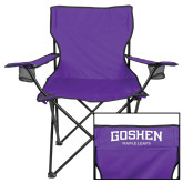 Deluxe Purple Captains Chair-Goshen Leaf and Wordmark