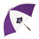 64 Inch Purple/White Umbrella-Goshen Leaf