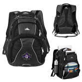 High Sierra Swerve Black Compu Backpack-Goshen Leaf