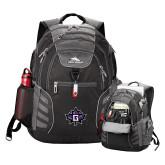 High Sierra Big Wig Black Compu Backpack-Goshen Leaf