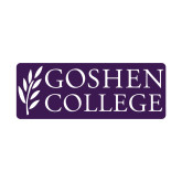 Small Decal-Goshen College Stacked, 6 inches wide