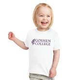 Toddler White T Shirt-Goshen College Stacked