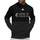 Adidas Black Team Issue Hoodie-Goshen College Stacked
