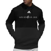 Adidas Black Team Issue Hoodie-Goshen College Logo