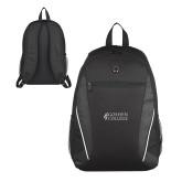 Atlas Black Computer Backpack-Goshen College Stacked