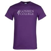 Purple T Shirt-Goshen College Distressed