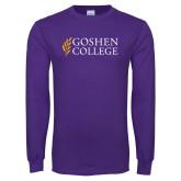 Purple Long Sleeve T Shirt-Goshen College Stacked