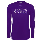 Under Armour Purple Long Sleeve Tech Tee-Goshen College Stacked