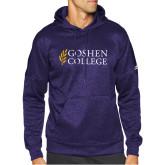 Adidas Purple Team Issue Hoodie-Goshen College Stacked