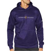 Adidas Purple Team Issue Hoodie-Goshen College Logo