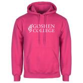 Fuchsia Fleece Hoodie-Goshen College Stacked