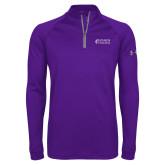 Under Armour Purple Tech 1/4 Zip Performance Shirt-Goshen College Stacked