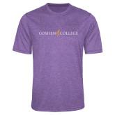 Performance Purple Heather Contender Tee-Goshen College Logo