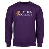 Purple Fleece Crew-Goshen College Stacked