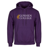 Purple Fleece Hoodie-Goshen College Stacked