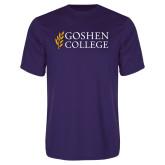 Performance Purple Tee-Goshen College Stacked