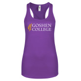 Next Level Ladies Purple Berry Ideal Racerback Tank-Goshen College Stacked