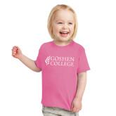 Toddler Fuchsia T Shirt-Goshen College Stacked