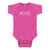 Fuchsia Infant Onesie-Goshen College Stacked