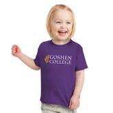 Toddler Purple T Shirt-Goshen College Stacked
