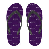 Full Color Flip Flops-Goshen College Stacked