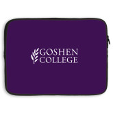 15 inch Neoprene Laptop Sleeve-Goshen College Stacked