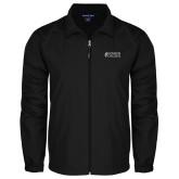 Full Zip Black Wind Jacket-Goshen College Stacked