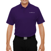 Under Armour Purple Performance Polo-Goshen College Logo