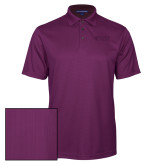 Purple Performance Fine Jacquard Polo-Goshen College Stacked