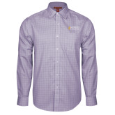 Red House Purple Plaid Long Sleeve Shirt-Goshen College Stacked