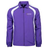 Colorblock Purple/White Wind Jacket-Goshen College Stacked