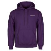 Purple Fleece Hoodie-Goshen College Logo
